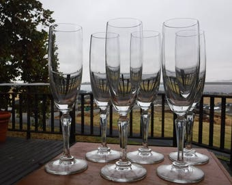 "American Stemware 'Elite' Crystal Champagne Flutes, 2"" Diameter x 8-1/4"" Tall, Set of 6"