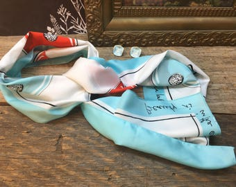 Vintage Italian La Nouvelle Bague Designer Scarf/Firenze/Beauty Is In The Eye Of The Beholder