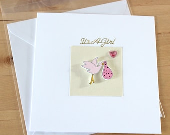 New Baby Card, gift,  baby boy card, gift, baby girl card, gift, christening card, gift, New arrival cards , Greeting cards handmade