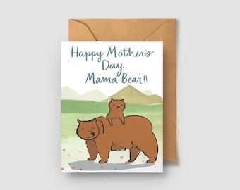 Mother's Day Card - Blank Card - Mama Bear Card