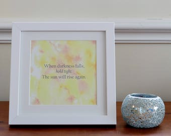 Motivational print- unframed