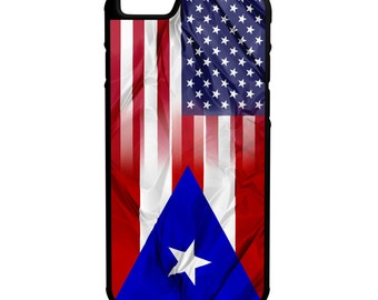 Puerto Rico American Flag iPhone Galaxy Note LG HTC Hybrid Rubber Protective Case
