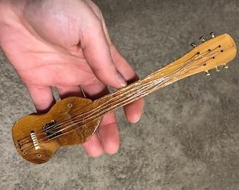 Mezuzah - Beautiful, Hand Carved Wood Guitar