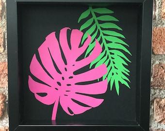 Exotic Leaf Botanicals 2 - Original paper craft art.