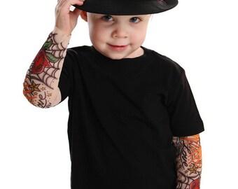 Tattoo Sleeve Black T Shirt Rockabilly