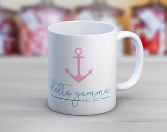 DG Delta Gamma Established Mug Sorority Coffee Mug