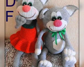 Crochet  Pattern  Amigurumi doll cat Tom, amigurumi pdf,  pattern toy, Amigurumi , crochet toy,  gift cat doll, Stuffed Cats