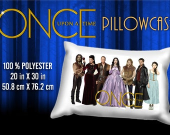 Once Upon a Time Cast Evil Queen Captain Hook Snow White Pillowcase
