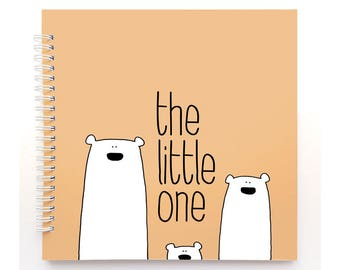Polar bears book - Baby Book, Baby Memory Book, Baby Shower Gift, Baby Journal, Baby Album, Keepsake