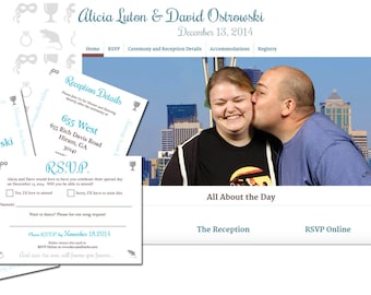 Deluxe Custom Printable Invitation & WordPress Site Wedding Package