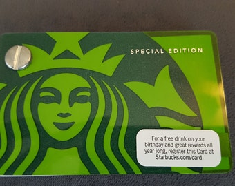 Starbucks Upcycled Refillable Giftcard Notebook - 2011 Special Edition Mermaid Siren Green