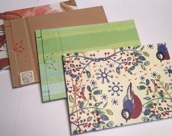 Notebook Handmade Japanese Binding different patterns