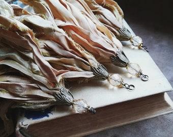 Sari silk tassel Shabby silk tassel Bohemian sari silk tassel