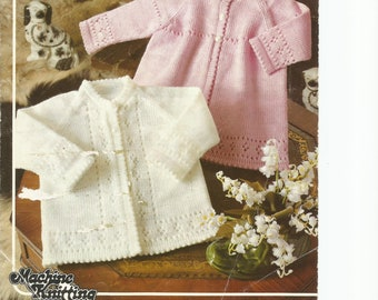 PDF Knitting Patterns, Baby Knitting Pattern, Cardigan Knitting Pattern, Digital download Knit Pattern, Machine Knitting Pattern