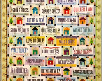 2014 License Plate Quilt Pattern