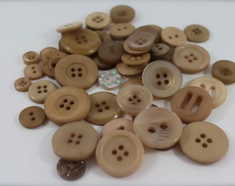 50 Champagne Buttons-Buy 3, Get 1 FREE