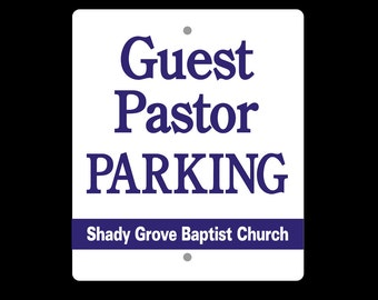 "Custom Parking Sign - 12""w by 18""h"