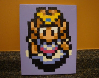 ANY character from Legend of Zelda: A Link to the Past SNES pixel painting 8x10 canvas