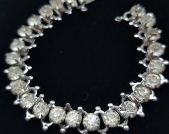 Classic & Sparkling Clear Rhinestone Bracelet