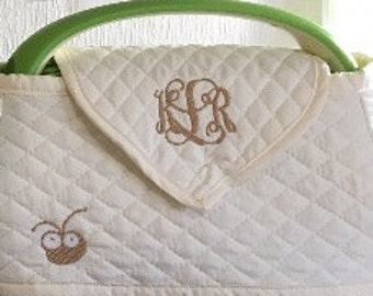 Custom and Personalized Cuttlebug Dust Cover (quilted)