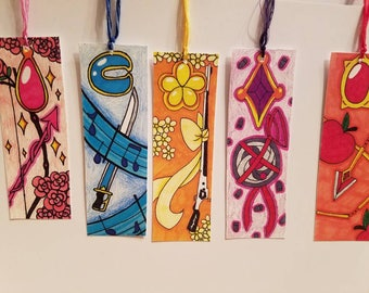 Set of 5 Madoka Magica Inspired Bookmarks