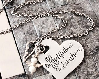 Angel Baby Necklace - Pregnancy Loss Necklace - Baby Loss Jewelry - Miscarriage Necklace - Angel Necklace - Miscarriage Gift
