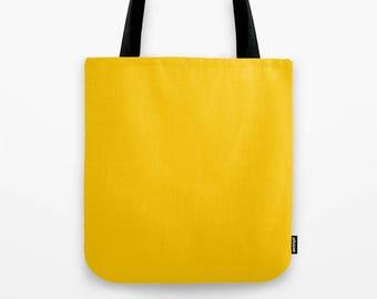 Mustard yellow tote bag,solid color bag,minimalist bag,large bag,simple shopping bag,market bag,unique tote bag,girlfriend gift,holiday gift