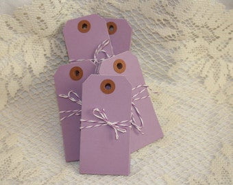CLEARANCE -Colored Shipping Tags - Medium - Lavender - 10 pack