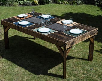 Large Rustic Dining Table - Solid Reclaimed Wood