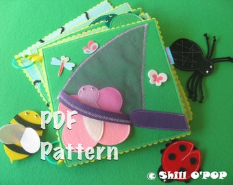 PDF Pattern Over In The Meadow Finger Puppet Felt Quiet Book
