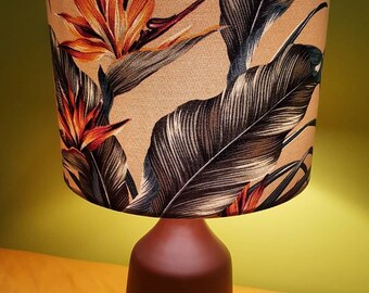 Birds of Paradise Hawaiian Lampshade, lamp.