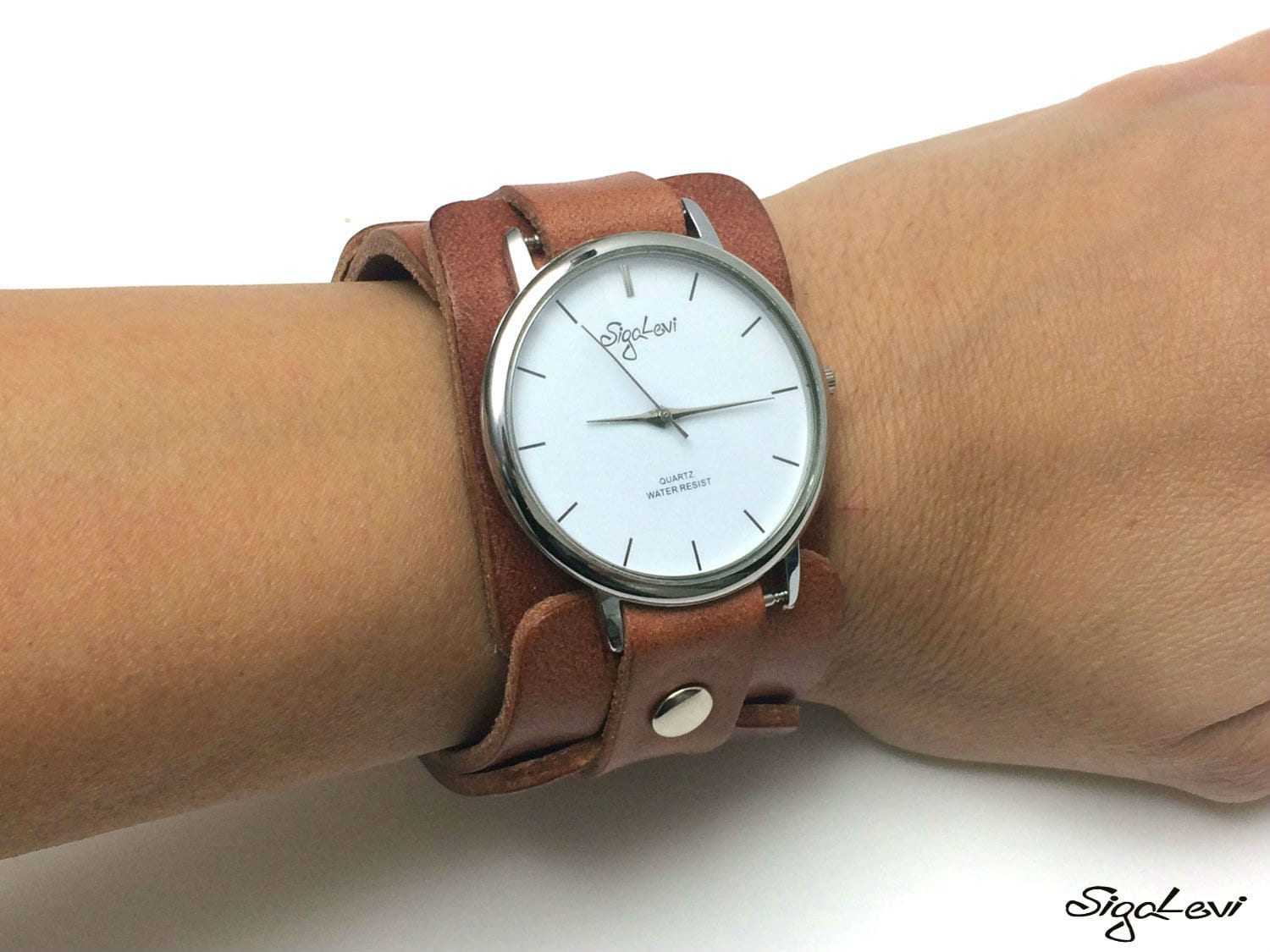 women woman listing watch brown watches il cuff leather zoom in fullxfull wristband
