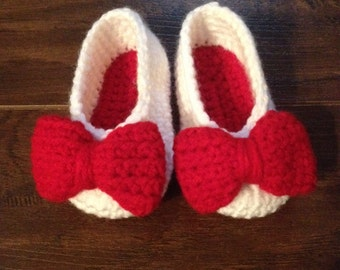 Baby ballet slippers whit bow