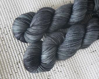 Lost at Sea - Hand Dyed DK Tonal Yarn - 100% Superwash Merino - Grey Blue