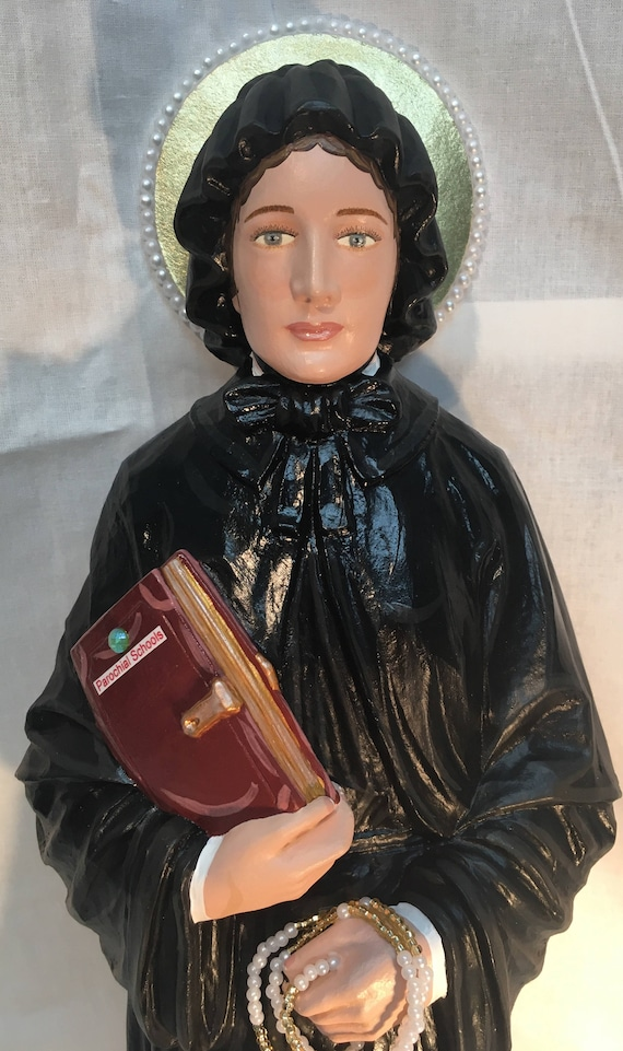"St. Elizabeth Ann Seton 18"" Patron of in-law problems, against the death of children, widows, death of parents"
