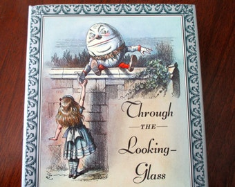 vintage book - Through The Looking Glass - Lewis Carroll, John Tenniel