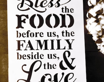 Bless the food before us, bless the food before us sign, Bible verse wall art, metal bible verse, bible verse sign, metal bible verse art