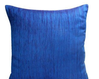 Blue Pillow Cover, Contemporary Pillow Cover, Modern Pillow Cover