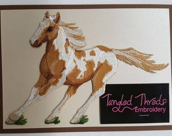 """Paint Horse Embroidered Patch Approx Size 8.4"""" x 5.8"""""""
