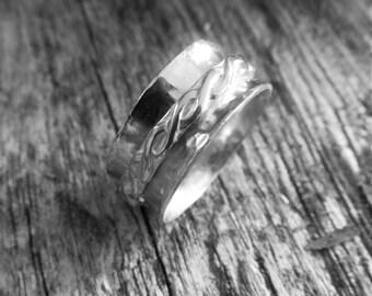 Spinner Ring For Women - Wedding Spinner Ring - Silver Wedding Ring - Fidget Ring -  Sterling Silver Ring - Meditation Ring - Worry Ring