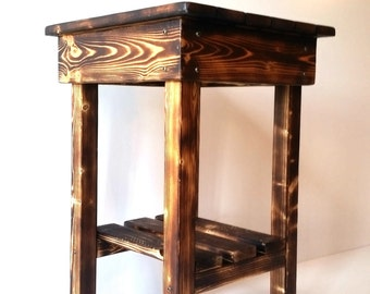 Night Stand/End Tables/ Bed Side Tables/Rustic Night Stand/Aged/Barnwood Side Table/Vintage Farmhouse/Wood/Handmade/Custom