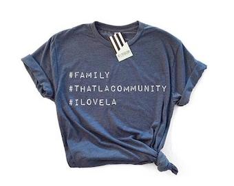 Hey, Penelope That LA Community T-Shirt in Denim
