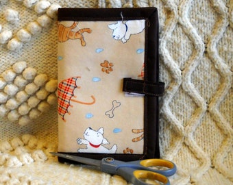 Raining Cats and Dogs Needle Book, Needle Case, Hand Sewing Organizer