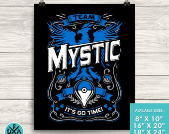 Team Mystic Go Video Game Inspired Design Museum Quality Premium Poster Gaming Art Print Matte Finish All Sizes