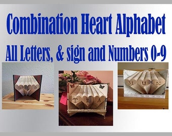 Combination Heart Book Folding Alphabet