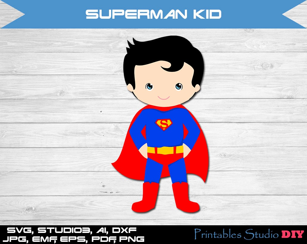Superman kid minus svg Cuttable Cricut Design Space