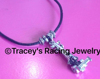 NHRA top fuel dragster necklace Tracey's racing jewelry exclusive