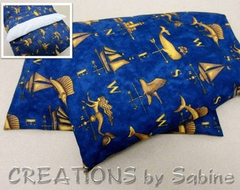 Corn Heating Pad, washable cover Blue Gold Therapy Pack Nautical Mermaid Swordfish Sailboat Lighthouse Father's Day Gift READY TO SHIP (449)