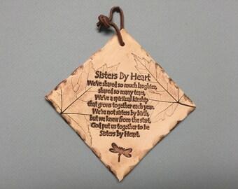 Sisters by heart, friend gift, best friend gifts