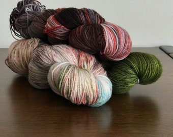 Washed out Yarn Kit - 3 skeins of Pura Sock (100% merino)